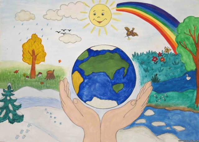 Детский экологический рисунок