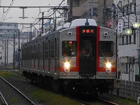 【もうすぐ引退!】東急7700系歌舞伎塗装 多摩川行き(2018年引退)