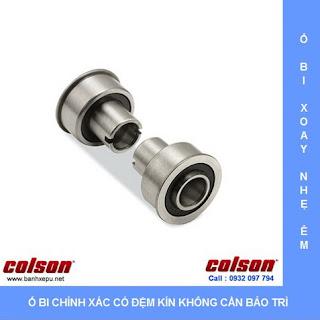Bánh xe đôi giường bệnh nhân Colson phi 125 trục ren | CPT-5854-85 sử dụng ổ bi