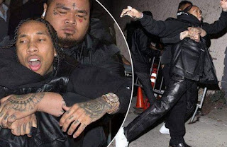 tyga being dragged out of party