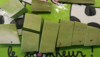 feuille aloe vera coupée en morceaux