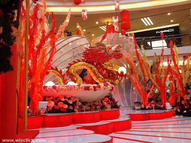 2012 Dragon year decoration at 1U shopping mall