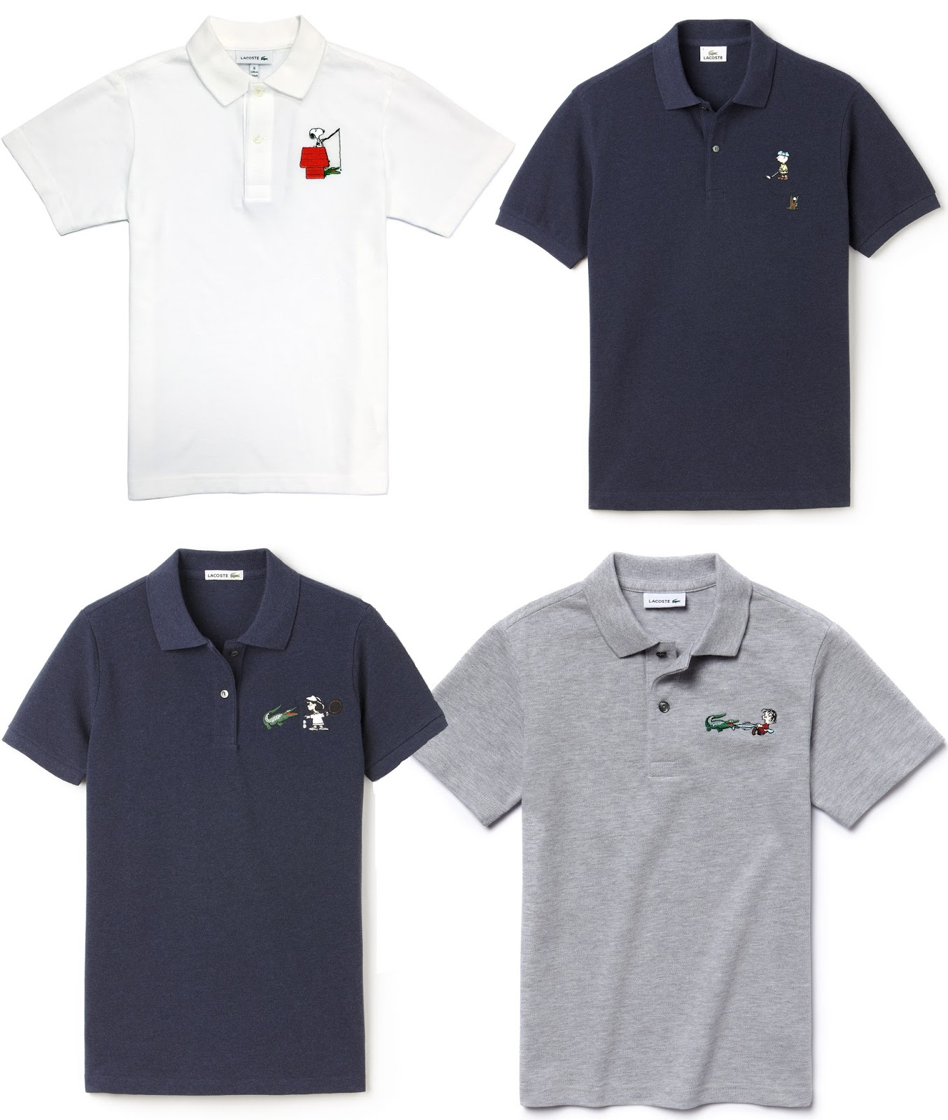 2b0672857 The Blot Says...  Peanuts x Lacoste 2015 Polo Collection