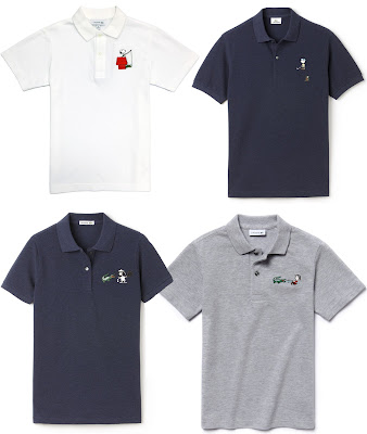 Peanuts x Lacoste 2015 Polo Collection - Snoopy, Charlie Brown, Lucy & Linus