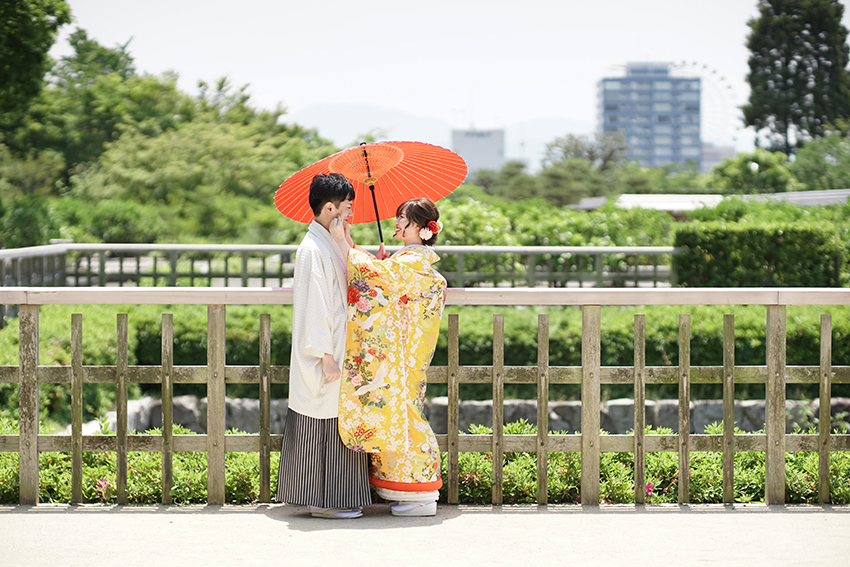 番傘を使って撮影