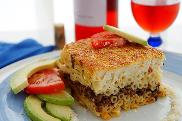 Greek Pastitsio-Baked Greek Bucatini with Meat