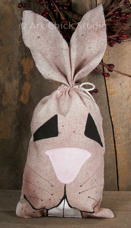 Grungy Bunny Bag Fabric Crafts