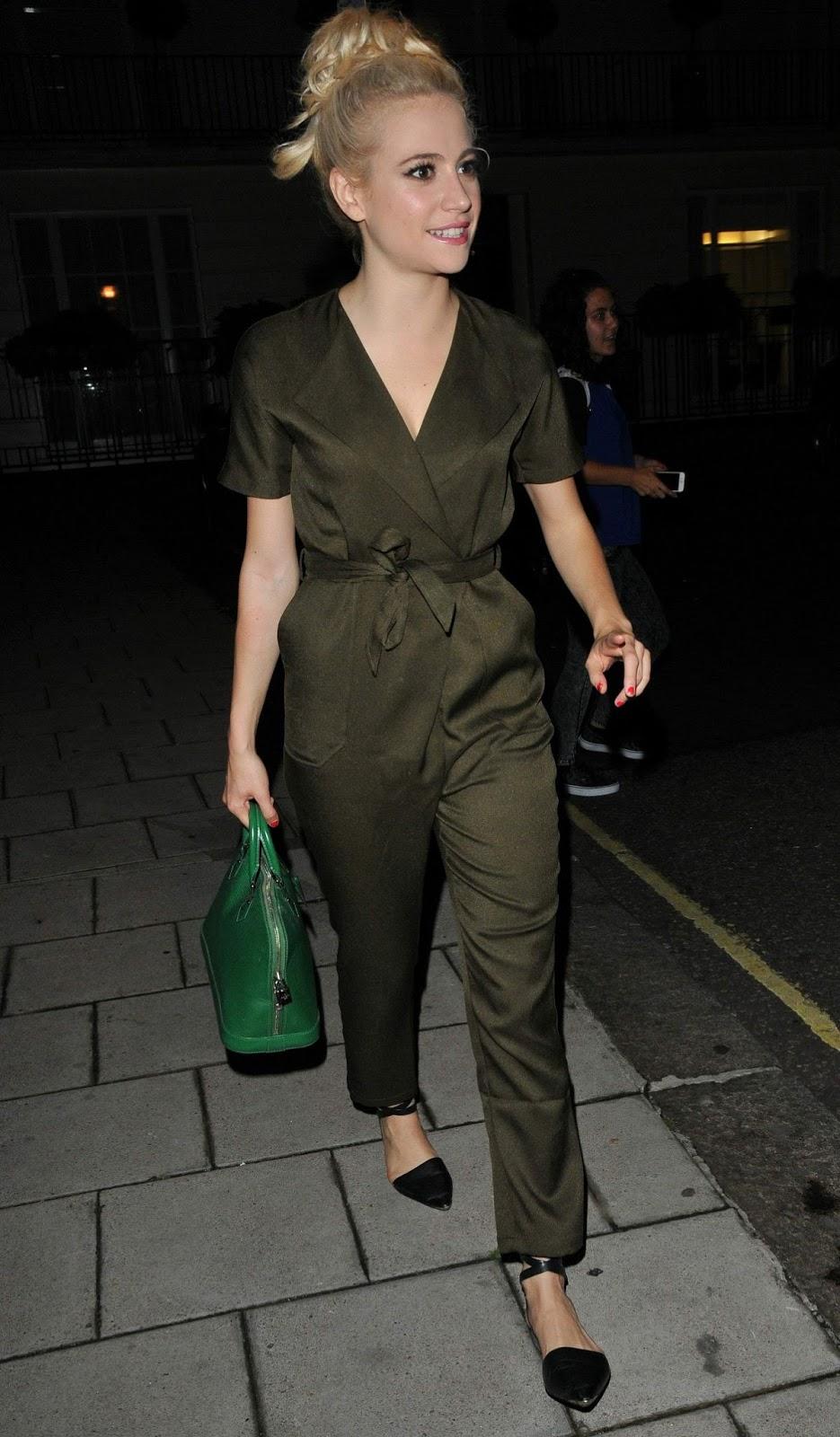 HQ Photos of Pixie Lott Leave Theatre Royal Haymarket, London