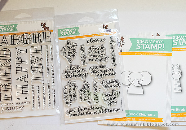 Layers of ink - Scalloped Zebra Cards Tutorial by Anna-Karin Evaldsson with SSS Friends Collection
