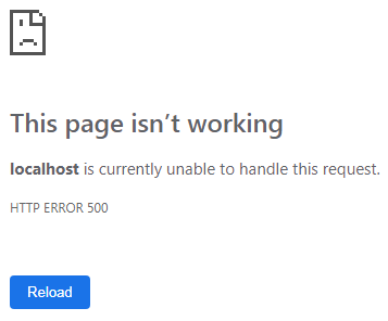 default unhandled exception page in asp.net core
