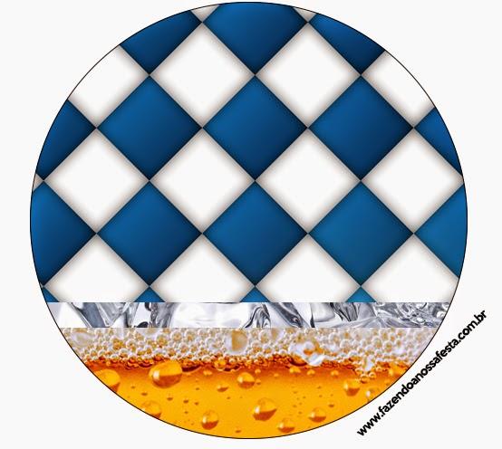 Toppers o Etiquetas de Fiesta de la Cerveza para imprimir gratis.