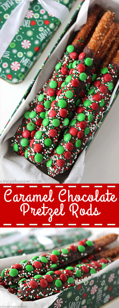 CARAMEL CHOCOLATE PRETZEL RODS