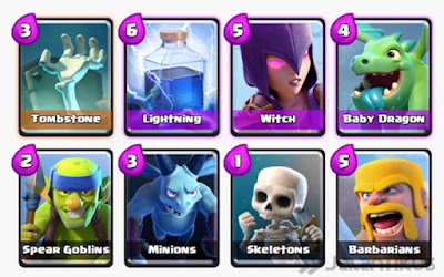 Kumpulan Battle Deck Clash Royale Arena 3 Terbaik (Winning Strategy) Control