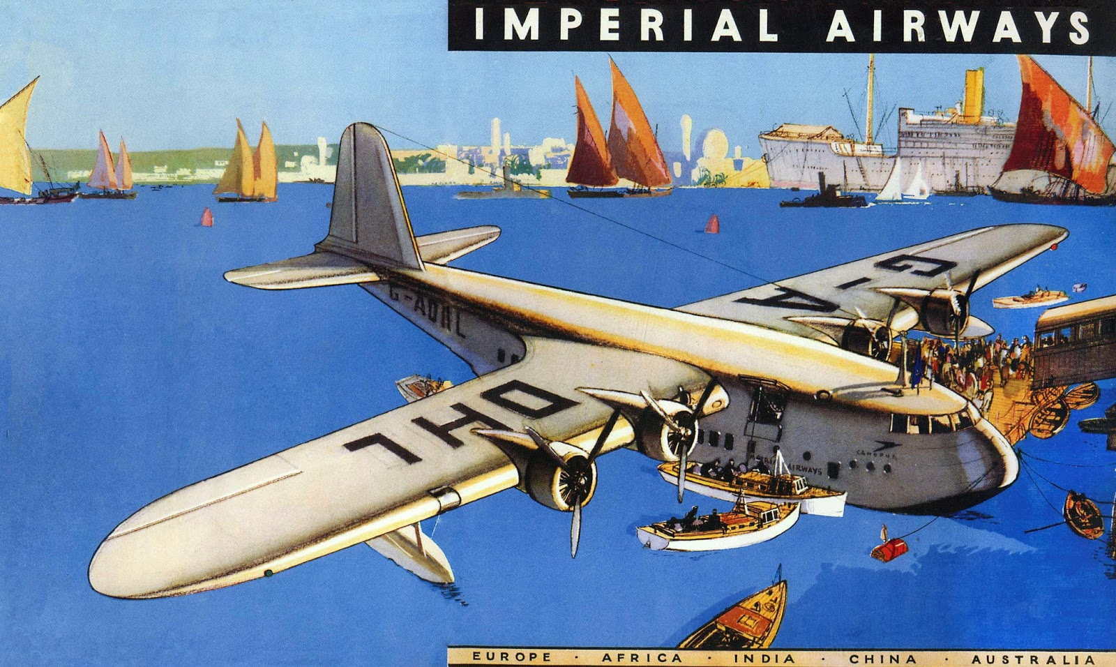 transpress nz: Short S23 Empire Flying Boat 'Canopus'