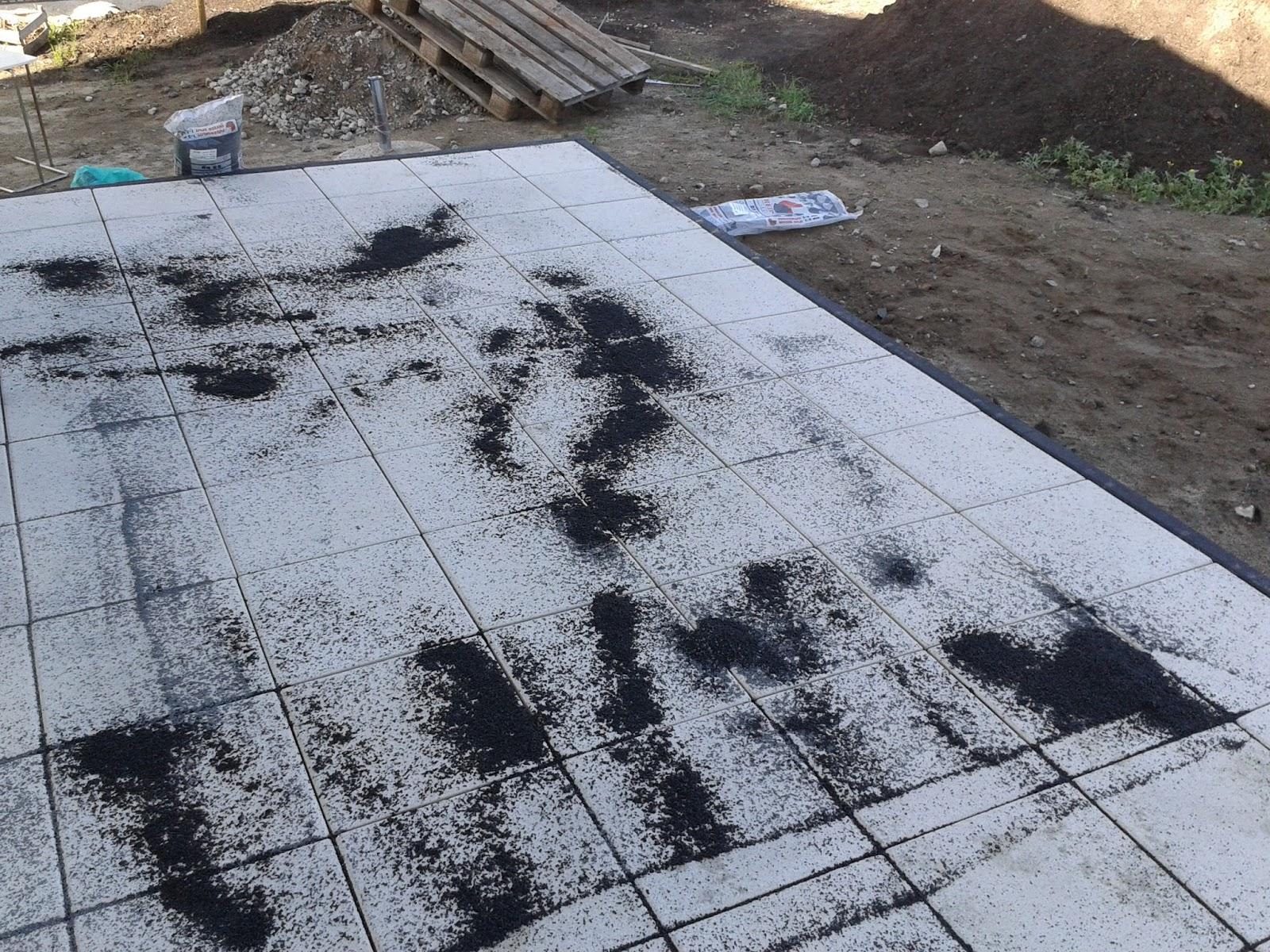 terrassenplatten in splitt verlegen feinsteinzeug. Black Bedroom Furniture Sets. Home Design Ideas