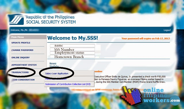 How to Apply for SSS Salary Loan Online Registration and Application | OnlineFilipinoWorkers