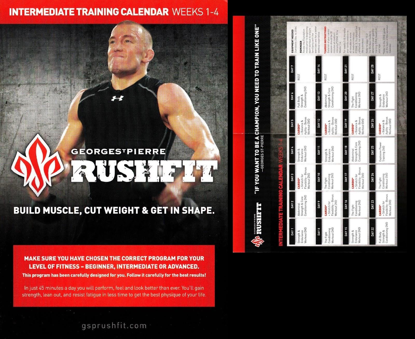 Rushfit workout guide - Body massage st albans
