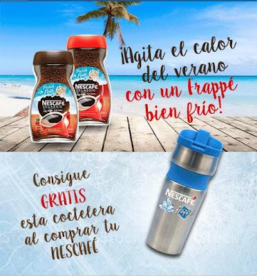 Coctelera Nescafé gratis