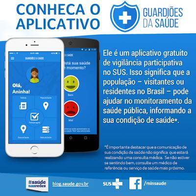 GUARDIOES%2BDA%2BSAUDE Ministério da Saúde Lança o Aplicativo GuardiõesDaSaúde (CONFIRA)