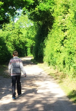 Morgan's Milieu | Residential Trips for Children: A photo of a child walking along a country path