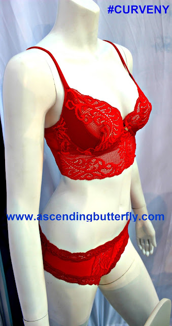 Red Bra and Panty Set, Lace Bra & Panty Set, MODE LINGERIE AND SWIM CURVEXPO 2015