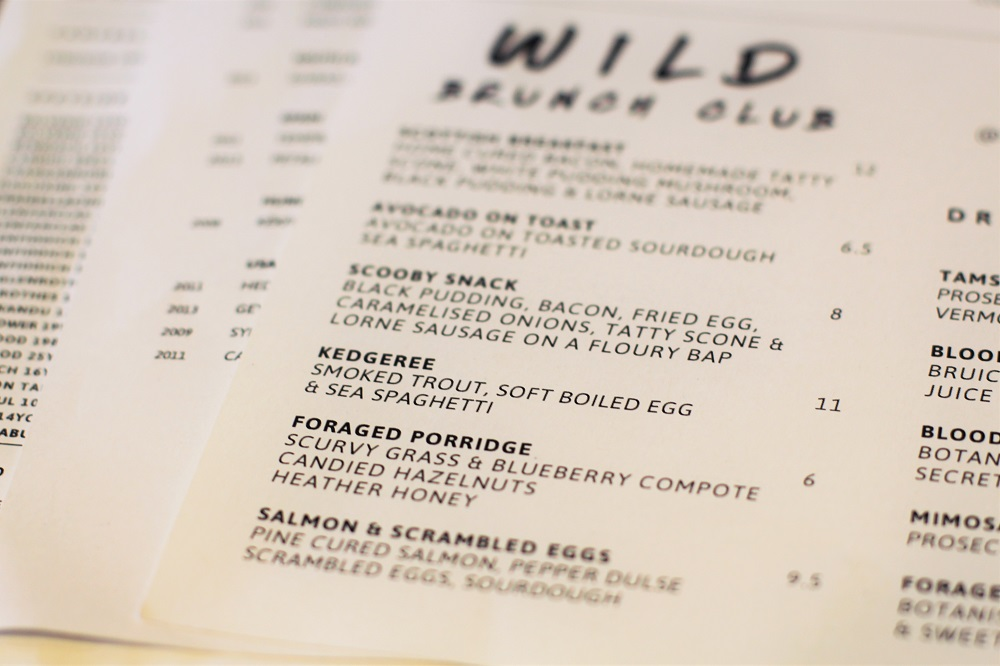 Wild Brunch Club at Mac & Wild - London restaurant blog review