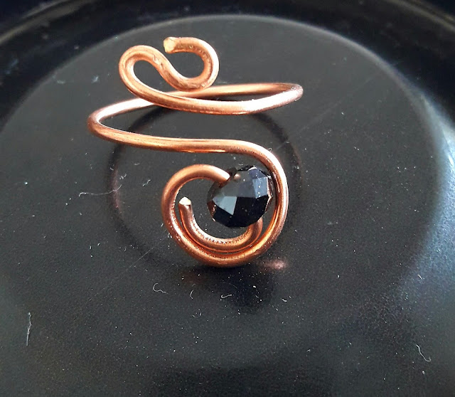 Copper Jewelry, Copper Wire Bead Rings, Copper Rings