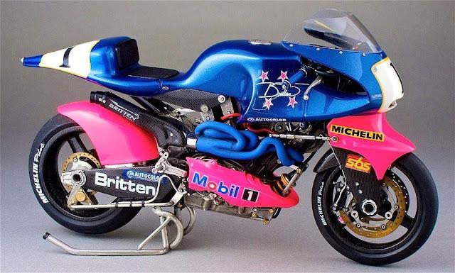 Britten V1000 1990s MotoGP bike