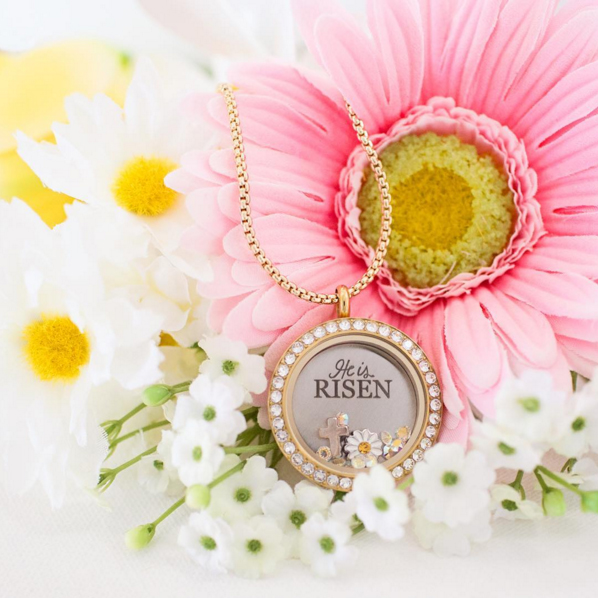 "Origami Owl ""He is Risen"" Window Plate available at StoriedCharms.origamiowl.com"