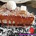 Tarta de Natillas de Coco con Baño de Chocolate