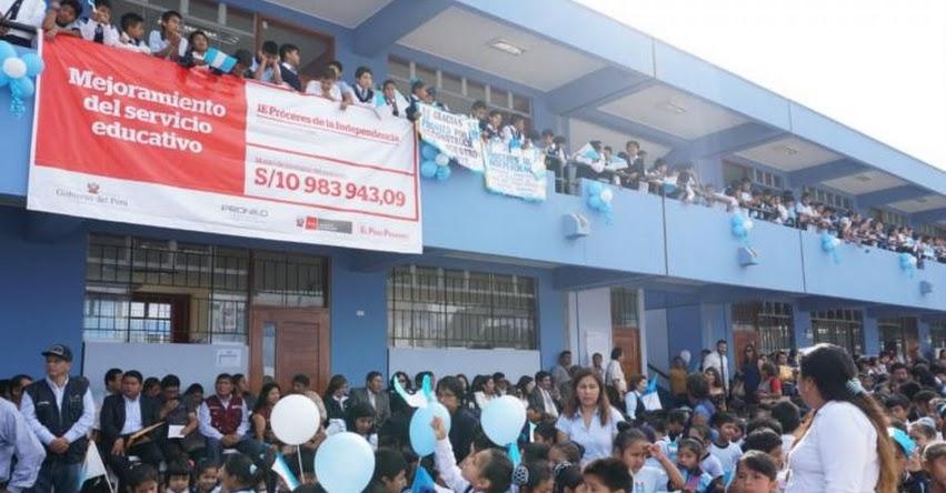 Nuevo colegio inaugurado en Chincha beneficia a más de 700 estudiantes
