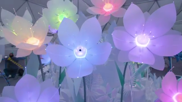 Artificial intelligence flower