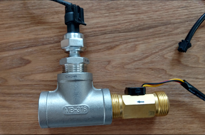 ESP8266 OTA Water Pressure Flow Monitor