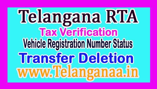 Telangana RTA Tax Verification TS Vehicle Registration Number Status RTA Driving Licence Search