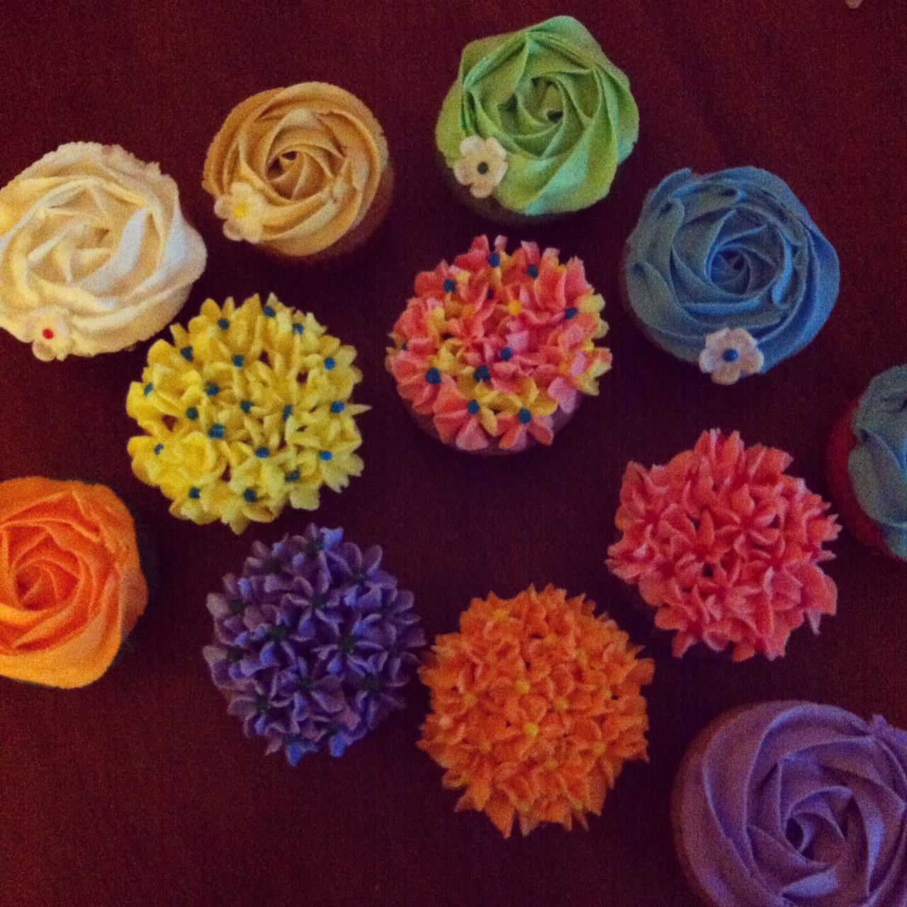 Baked Designs By Cindy Multi Colored Cupcakes