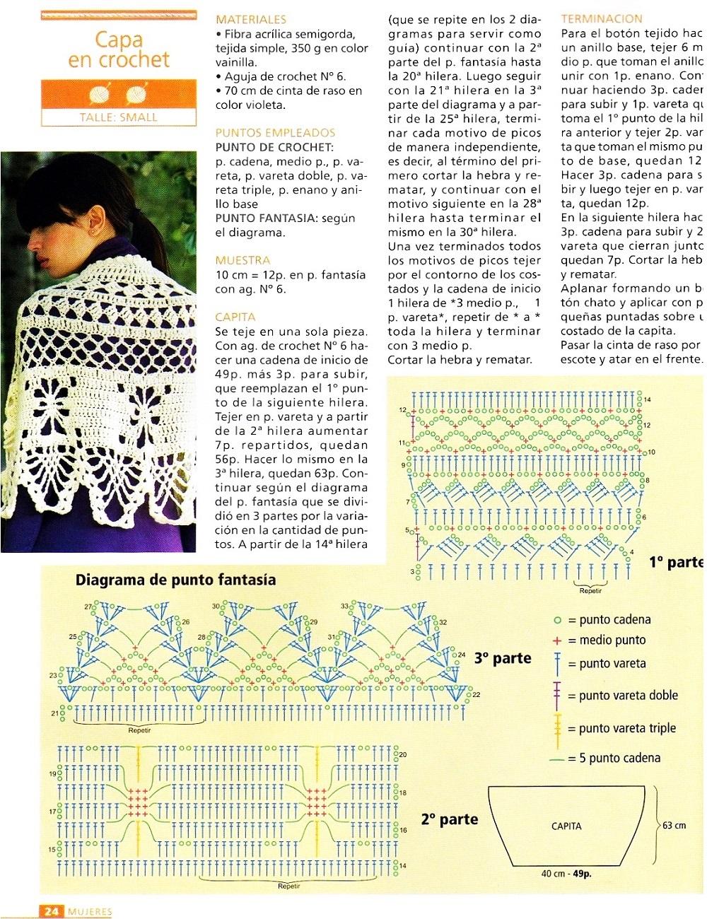 capas, crochet, ganchillo, patrones, gráficos