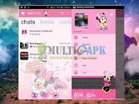 BBM Modifikasi Minnie Mouse Versi 3.0.1.25 Apk Android