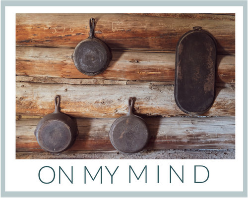 On My Mind ♥ KitchenParade.com, thinking about cast iron skillets