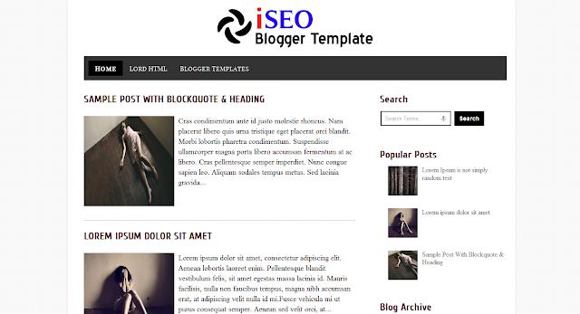 Fast Loading Blogger Templates