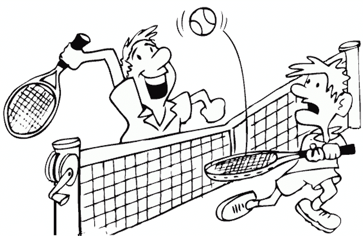 Sports Photograph Coloring Pages Kids Tennis Coloring