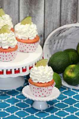 Strawberry Cupcakes with Lime Frosting Recipe