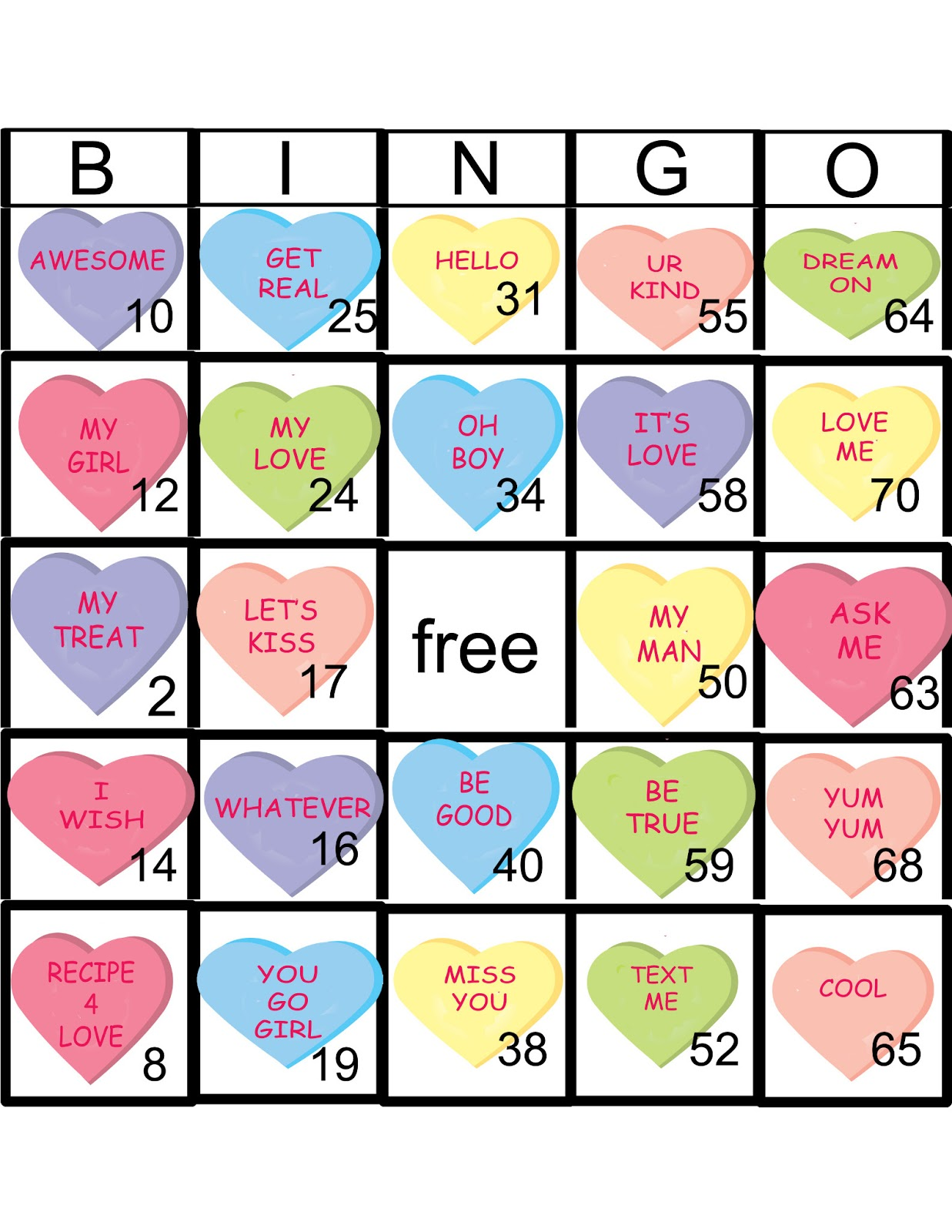 Outside The Box Valentine S Day Bingo
