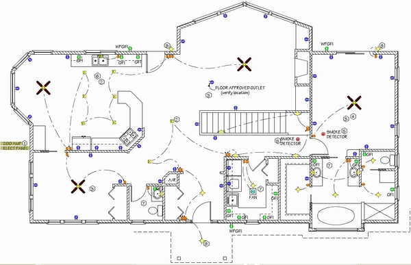 house wiring plan drawing pdf