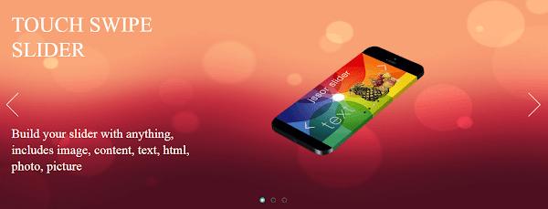 HTML5 Responsive Touch Swipe Slider Ücretsiz İndir