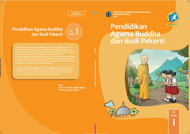 Download Gratis Buku Siswa Pendidikan Agama Budha Dan Budi Pekerti Kelas 1 SD Kurikulum 2013 Format PDF