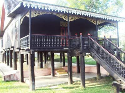 Desain Rumah Adat Sumatera Selatan Rumah Limas