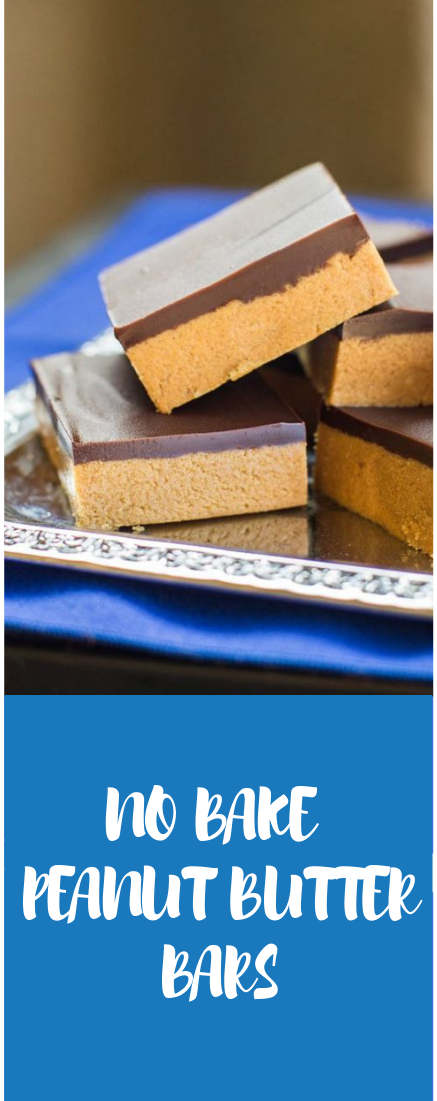 NO BAKE PEANUT BUTTER BARS  #cake