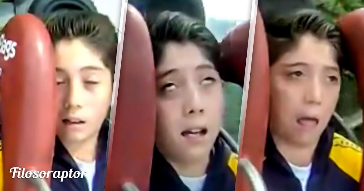 video chico se desmaya al subirse a una atracción se vuelve blanco de bullying escolar