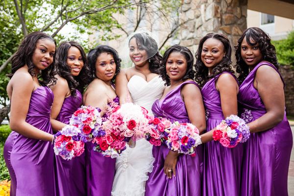 Colourful Bridesmaids...