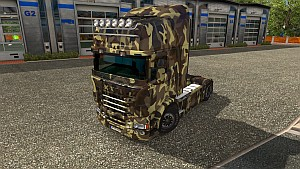 Camouflage Army skin for Scania RJL
